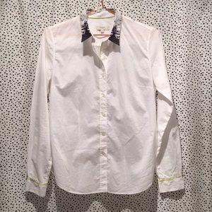 Paul Smith Contrast collar button Top Shirt floral